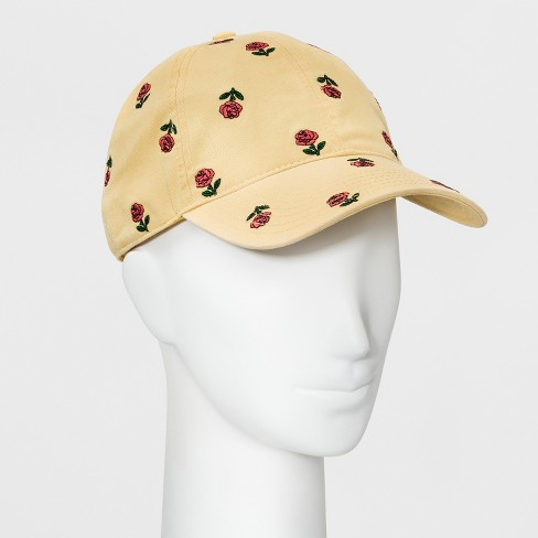Women s Embroidered Flowers Baseball Hat - Wild Fable™ Yellow   Target f112a44733