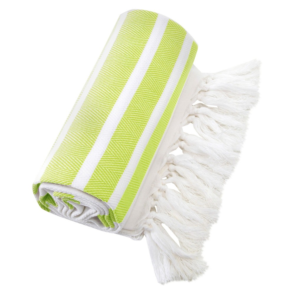 Herringbone Pesetemal Beach Towel Pistachio (Green)