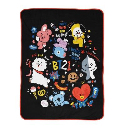 BT21 Line Friends Doodle Throw Blanket