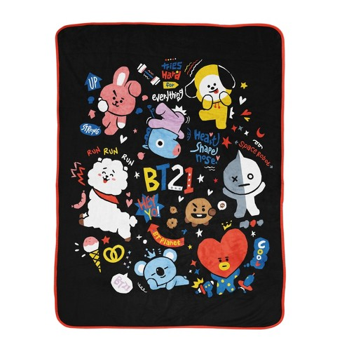 BT21 Line Friends Doodle Throw Blanket - image 1 of 4