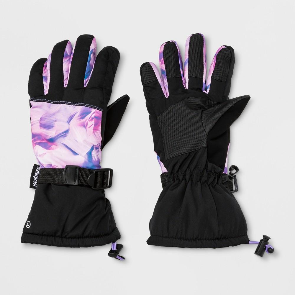 Girls' Premium Canyon Ski Gloves - C9 Champion Pink 8-16, Black Pink