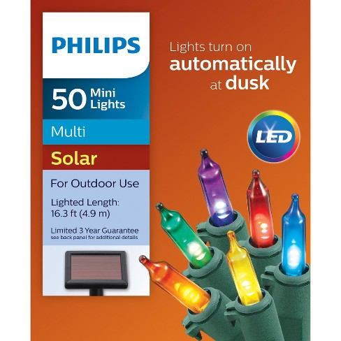 - Philips 50ct Christmas Solar Mini Lights... : Target