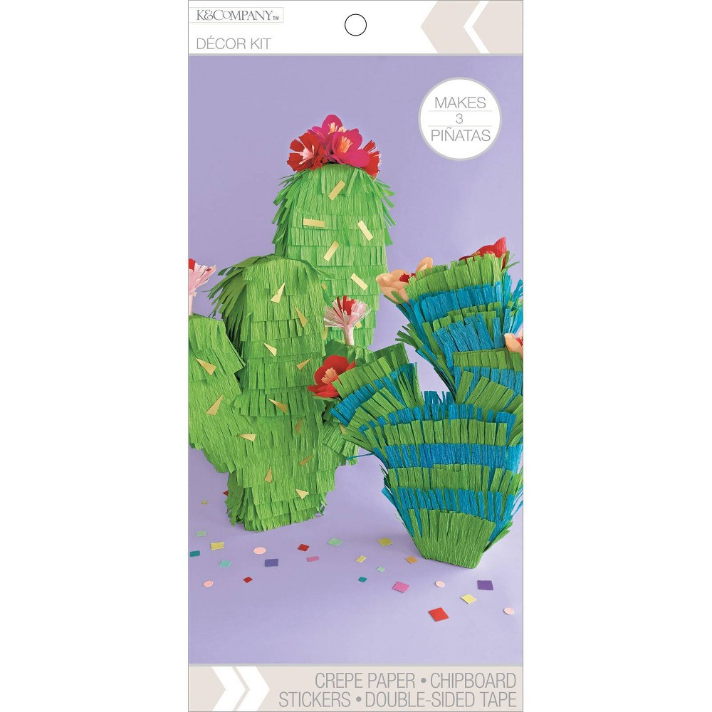 Image of K&Company Cactus Crepe Paper Decor Kit