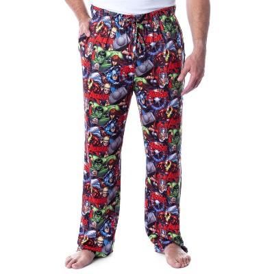 Marvel Mens' Avengers Unite Allover Character Loungewear Pajama Pants