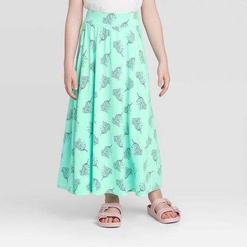 Girls' Unicorn Maxi Skirt - Cat & Jack™ - Mint - image 1 of 3