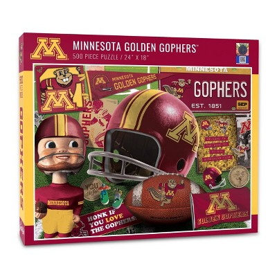 NCAA Minnesota Golden Gophers Throwback Puzzle 500pc