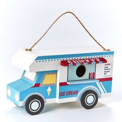 Lakeside Food Truck Shaped Birdhouse for Hanging - Novelty Garden Accent
