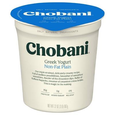 Chobani Plain Nonfat Greek Yogurt - 32oz