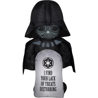 Gemmy Airblown Stylized Darth Vader w/Tombstone Star Wars, 3.5 ft Tall, Multicolored
