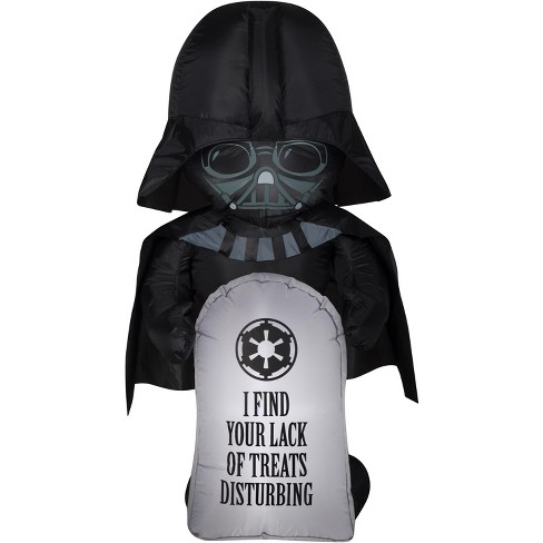 Gemmy Airblown Stylized Darth Vader w/Tombstone Star Wars, 3.5 ft Tall, Multicolored - image 1 of 2
