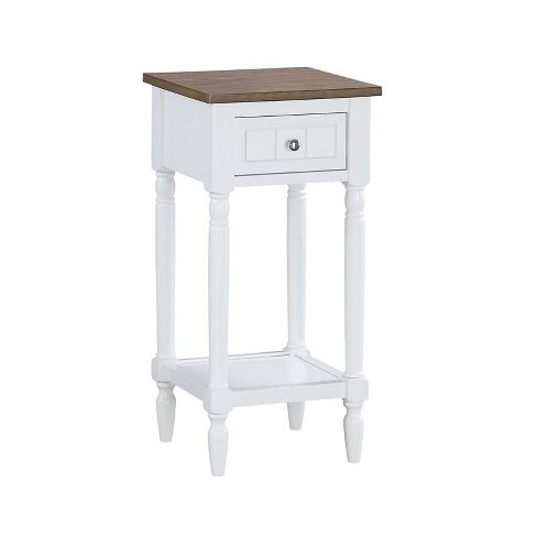 French Country Khloe Accent Table Driftwood Brown/White - Johar Furniture - image 1 of 6