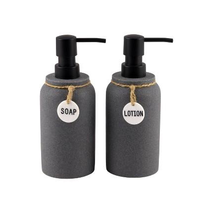 2pc Eton Lotion Pump Set Dark Gray - Allure Home Creations