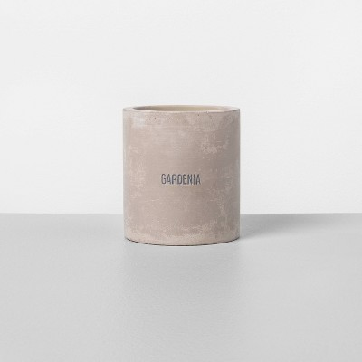 9.3oz Cement Candle Gardenia - Hearth & Hand™ with Magnolia