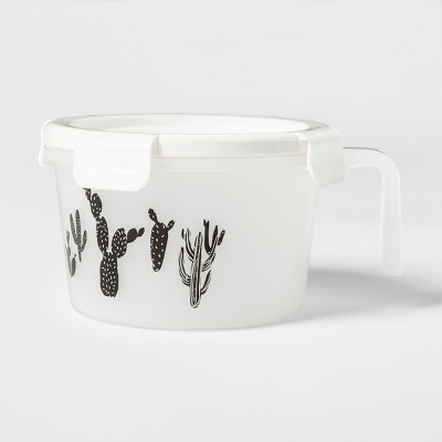 Soup to Go Lunch Box Sets White and Black Cactus Pattern - Room Essentials™