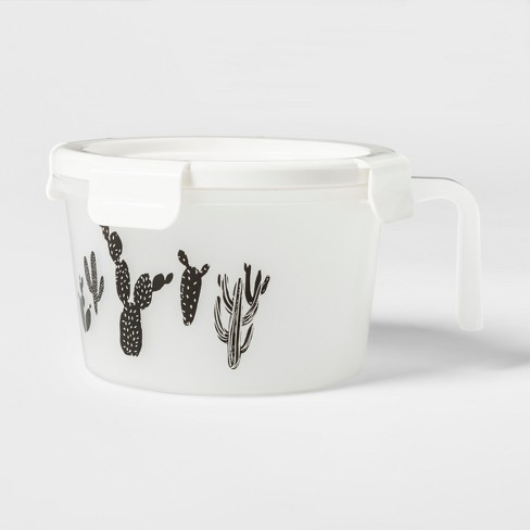 Soup to Go Lunch Box Sets White and Black Cactus Pattern - Room Essentials™ - image 1 of 3