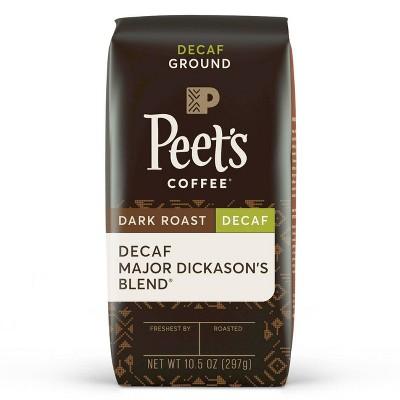Peet's Decaf Major Dickason's Blend Dark Roast Ground Coffee 10.5oz