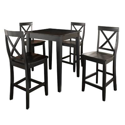 5pc Pub Dining Set with X-Back Stools - Crosley