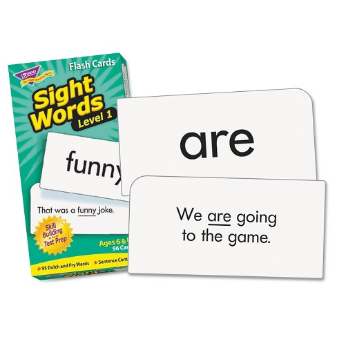"TREND Skill Drill Flash Cards, 3 3/8"" x 6 1/4"", Sight Words Set 1, 96/Set - image 1 of 1"