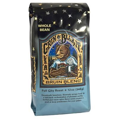 Raven's Brew Grin & Bear It Bruin Blend Full City Roast Dark Roast Whole Bean Coffee - 12oz