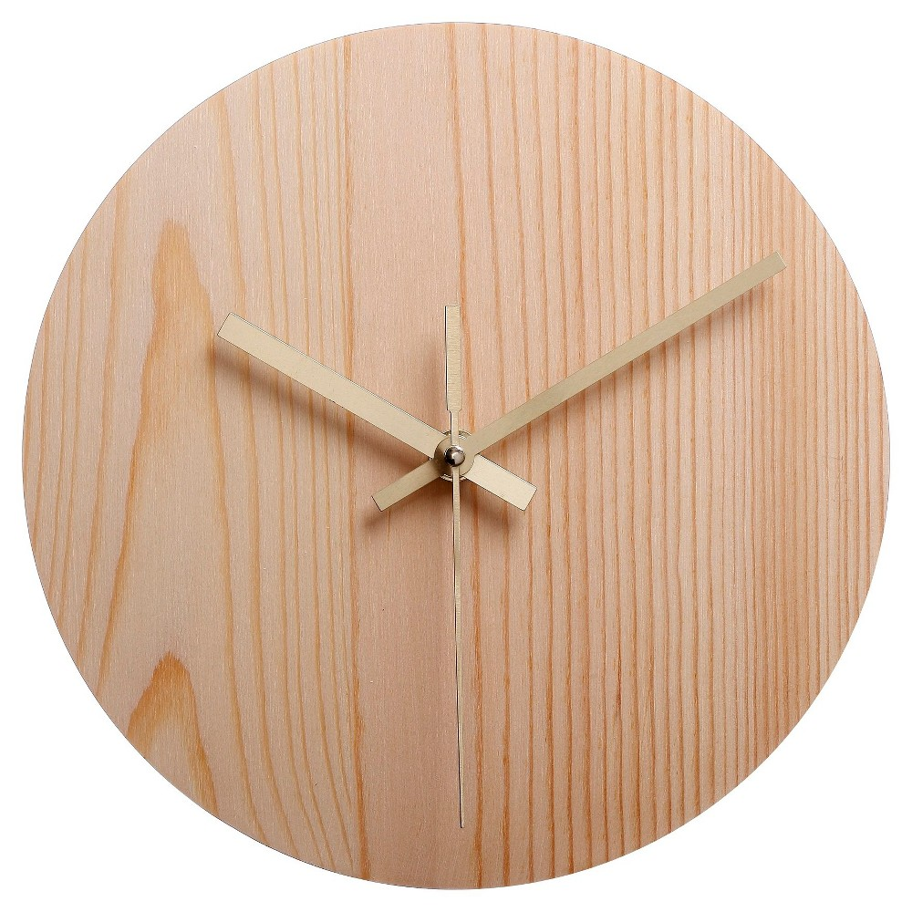 Hand Made Modern Wood Clock, Natural