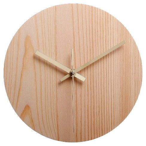 Hand Made Modern Wood Clock : Target
