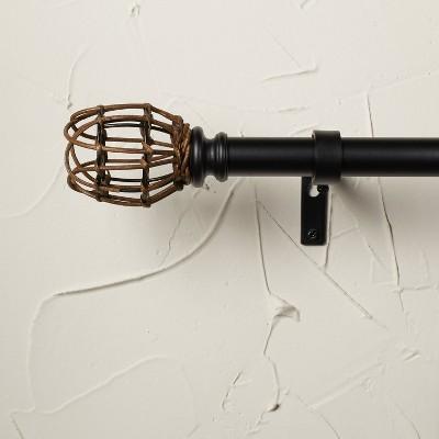 "66""-120"" Rattan Tulip Curtain Rod Matte Black - Opalhouse™ designed with Jungalow™"