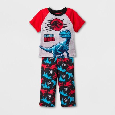Toddler Boys' Jurassic World 2pc Pajama Set - Blue/Red - image 1 of 1