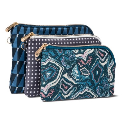 Sonia Kashuk™ Cosmetic Bag Purse Kit Modern Geo Mix - 3pc