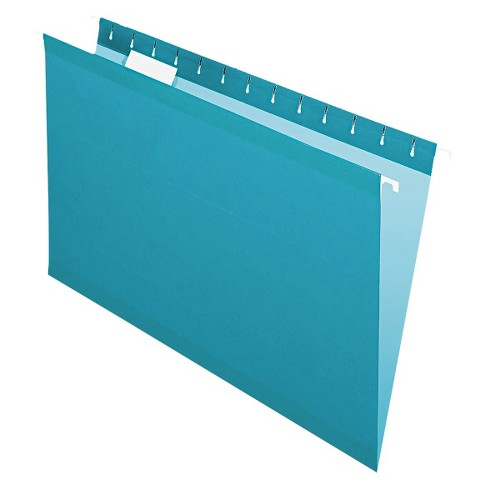 Pendaflex Reinforced Hanging File Folders with 1/5 Tab, Legal - Teal (25 Per Box) - image 1 of 1