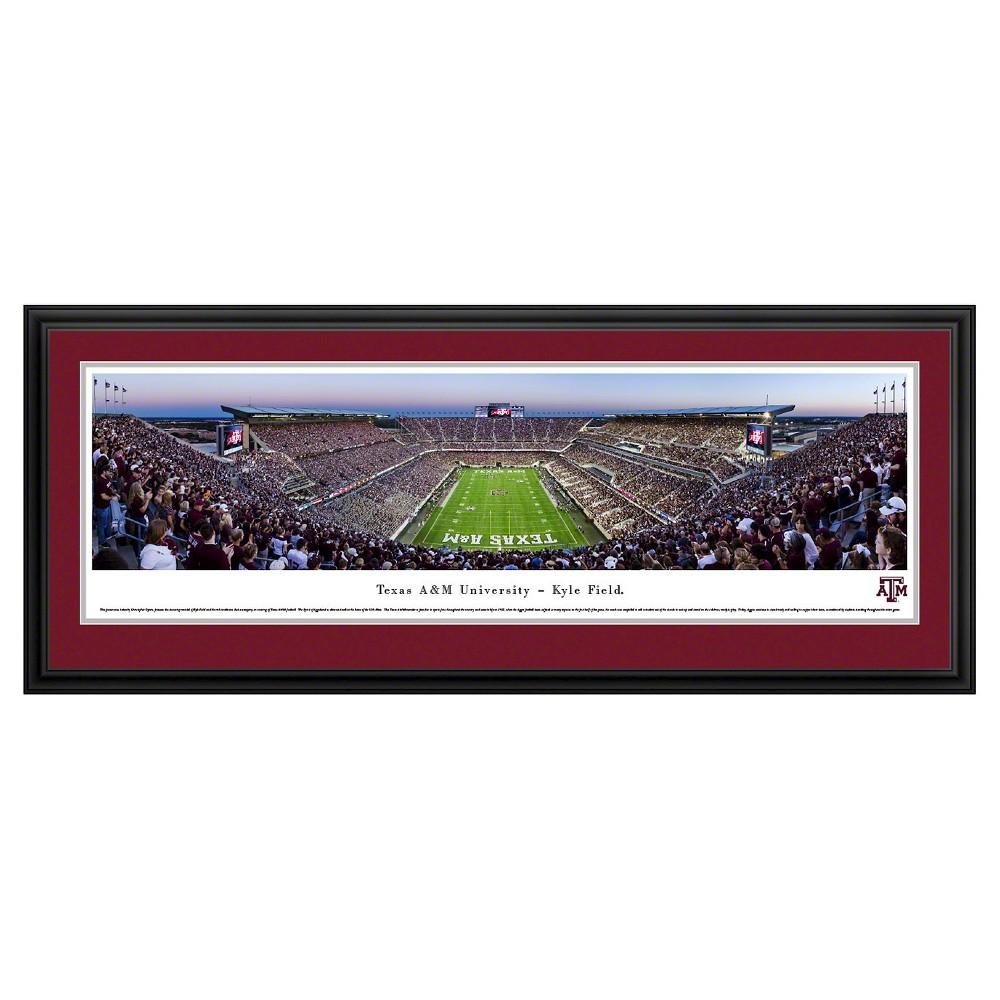 NCAATexas A&m Aggies BlakewayFootball Stadium View Framed Wall Art, Texas A&m Aggies