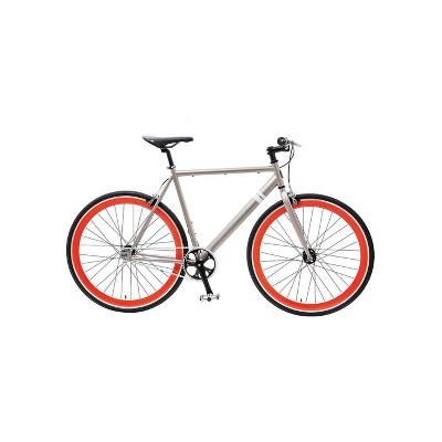 "Sole Bicycles el Tigre II Single Speed 29"" Road Bike - Silver"