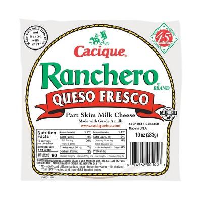 Cacique Ranchero Queso Fresco Cheese - 10oz