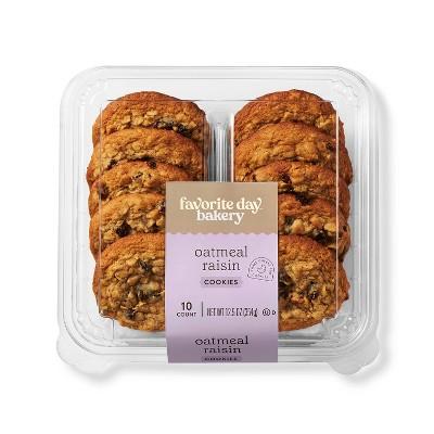 Oatmeal Raisin Cookies - 12.5oz/10ct - Favorite Day™