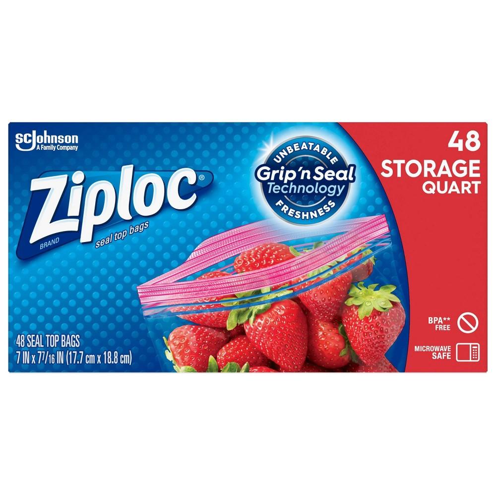 Ziploc Quart Storage Bags 48ct