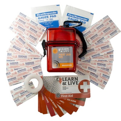 UST Learn and Live First Aid Kit with Educational Cards and Supplies