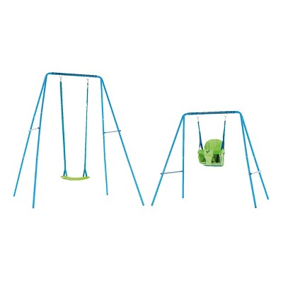 TP Toys 2 in 1 Metal Small to Tall Swing Set