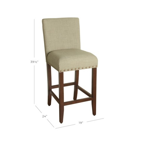 Upholstered 24 Counter Stool With Nailheads Homepop Target