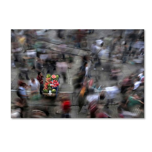 "Fatih Balkan The Chaos Of The City Canvas Art 22""32"" - Trademark Fine Art - image 1 of 2"