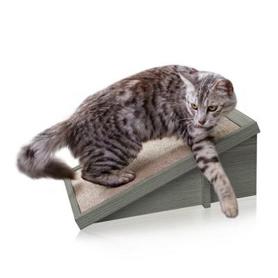 Way Basics Eco Incline Cat Scratcher - Gray