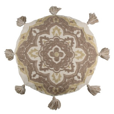Astrid Embroidred Medallion Decorative Pillow - Levtex Home