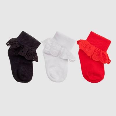 Toddler Girls' Dress Socks - Cat & Jack™ White