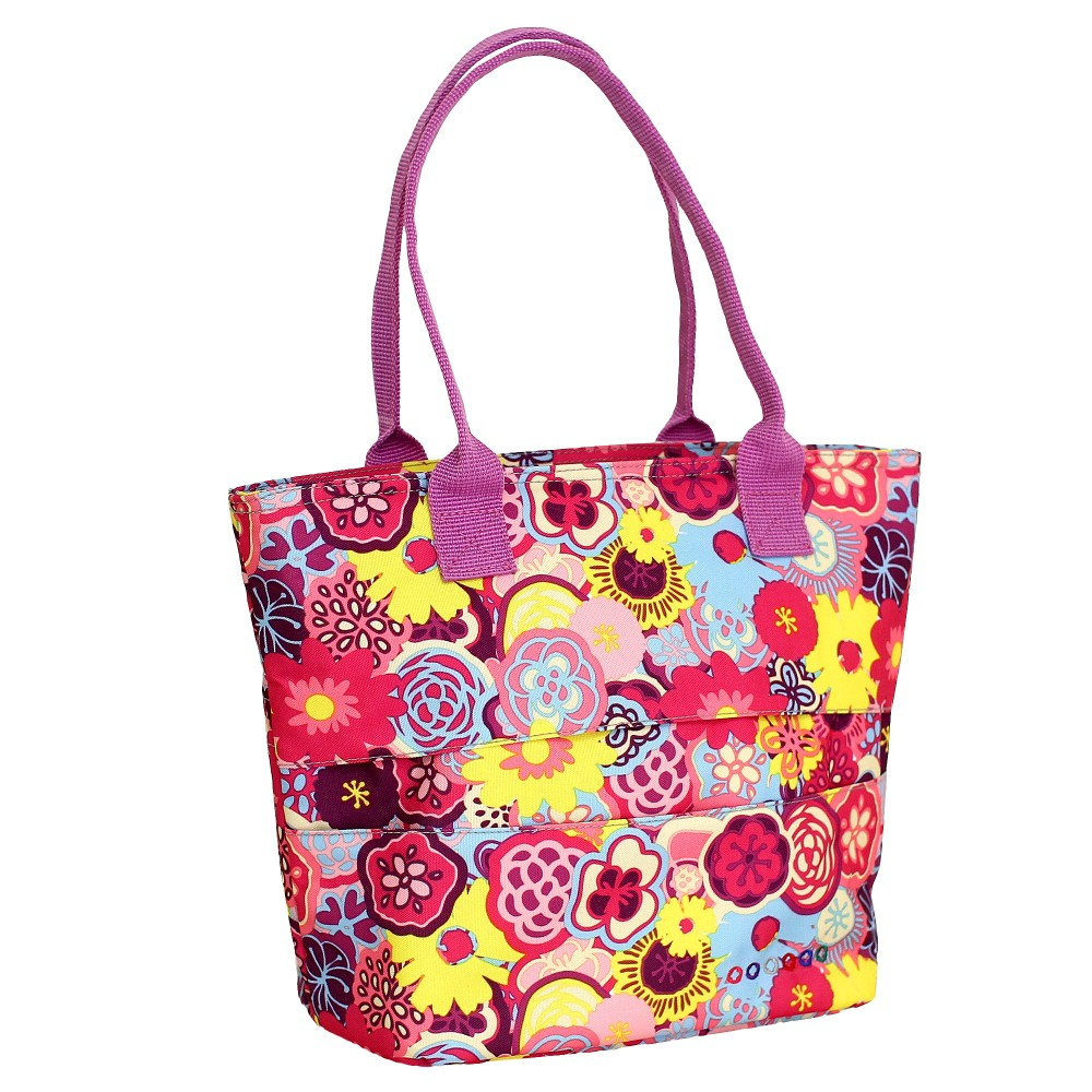 Image of J World Lola Lunch Bag with Back Pocket - Poppy Pansy