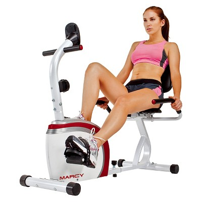 Marcy Recumbent Magnetic Exercise Bike with Pulse Monitor (NS-908R)