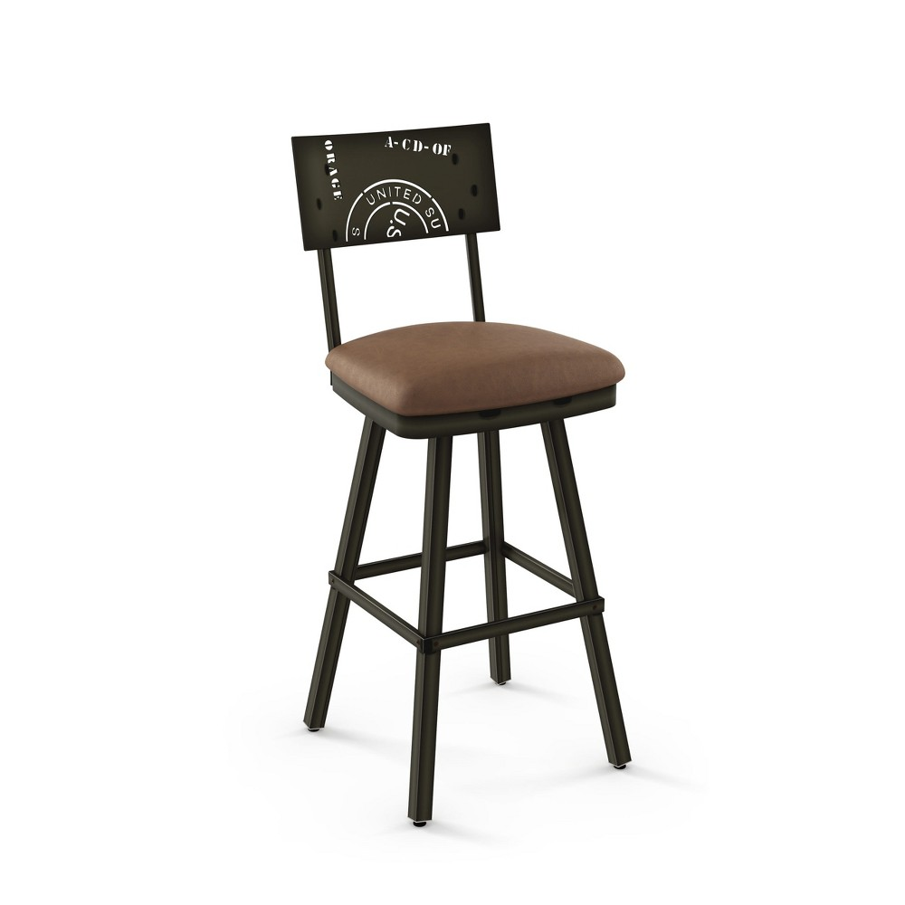 "Image of ""25.25"""" Amisco Wilson Counter Stool Medium Brown"""