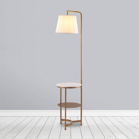 64 Taelyn Contemporary Floor Lamp With, Contemporary Floor Lamp With Table