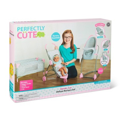 Perfectly Cute Deluxe Nursery 4pc Set