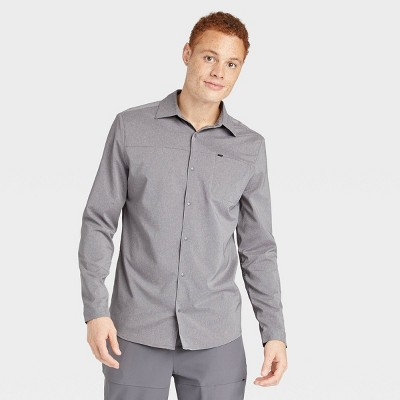 Men's Long Sleeve Button-Up T-Shirt - All in Motion™