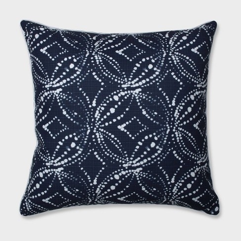 "25"" Gerardo Italian Denim Floor Pillow Blue - Pillow Perfect - image 1 of 2"