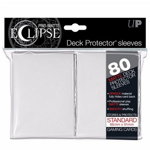 PRO-Matte Eclipse White Deck Protector Sleeves for Standard Size Cards 80 Count - image 1 of 1