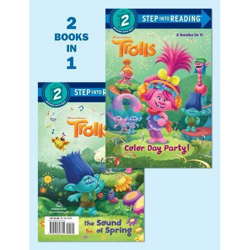 Color Day Party!/The Sound of Spring (DreamWorks Trolls) - (Step Into Reading) (Hardcover) - image 1 of 1